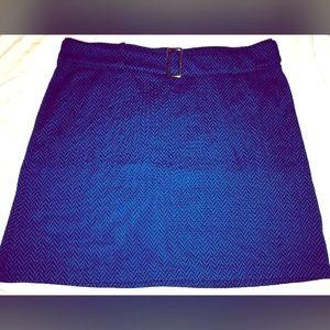 Blue zig zag NY&CO Belted Skirt NWOT